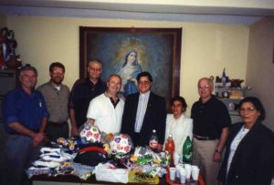 Presenting humanitarian aid goods to a Quito Ecuador orphanage