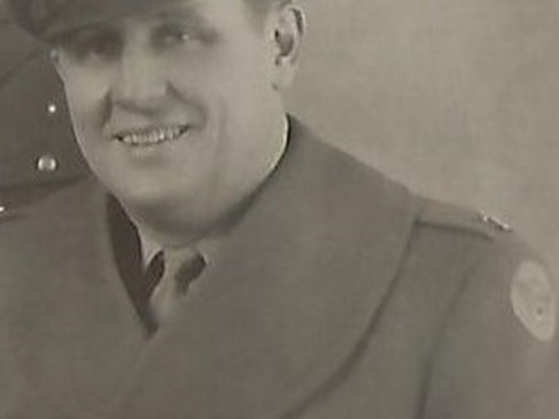 Howard Hunt Sr. in his 8th Air Force Army Air Corps uniform during WW II