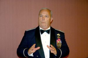 In Mess Dress speaking to KY National Guard Association guests