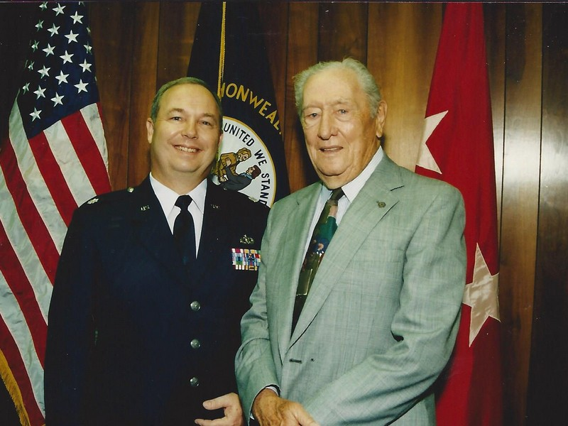 Lt Colonel Howard Hunt with WW II veteran and grandfather Howard Hunt Sr.