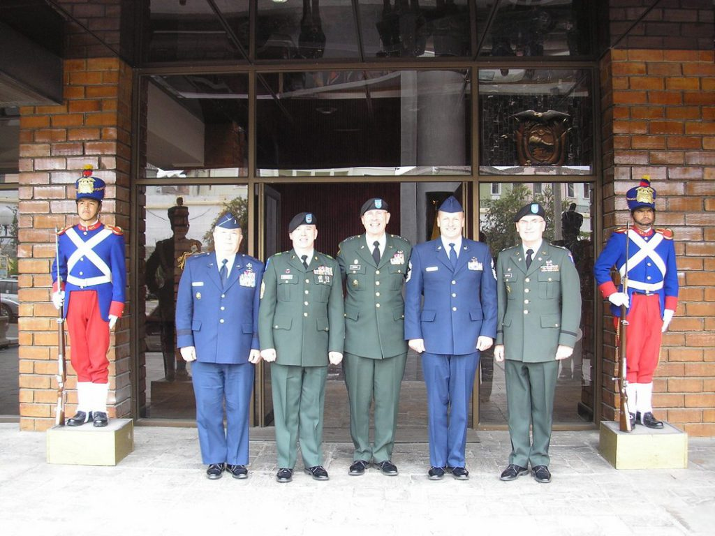 At Ministry of Defense in Quito Ecuador