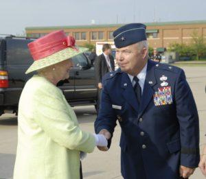 Brig Gen Howard Hunt Meets Queen Elizabeth
