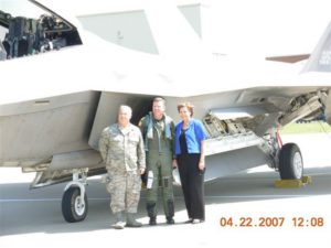 General Todd Wolters and the first F22 Raptor to Thunder Over Louisville Air Show