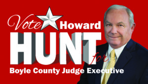 Vote Howard Hunt for Boyle County Judge Executive 2018