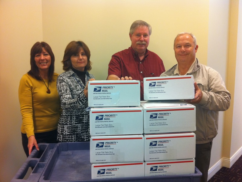 Kentucky Association of Counties staff sending Meals for Marines boxes to our troops in Afghanistan