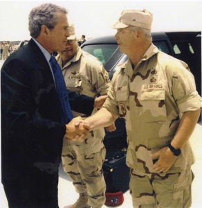 Brig Gen meet President George W. Bush